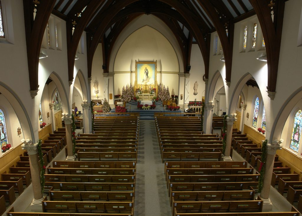 Church from choir loft