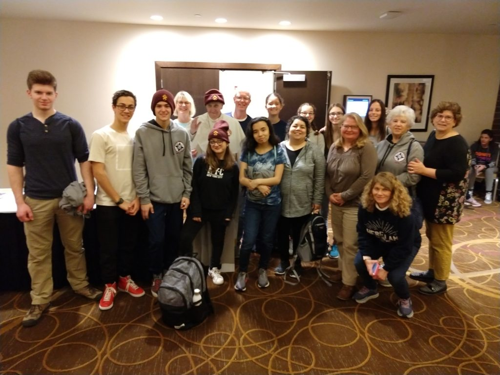 Immaculate Conception arrives at NCYC November 2019