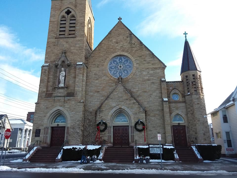 Immaculate Conception Outside of Church Christmas 2019