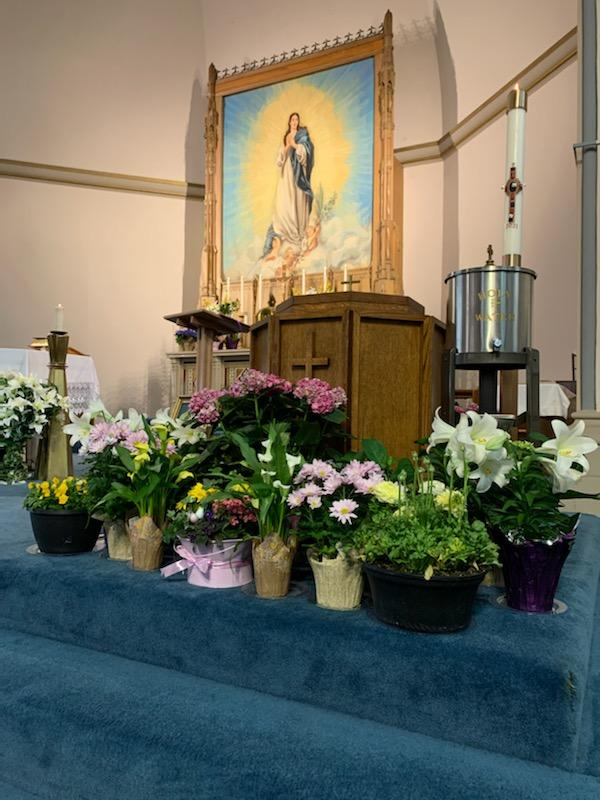 Easter by Baptismal font